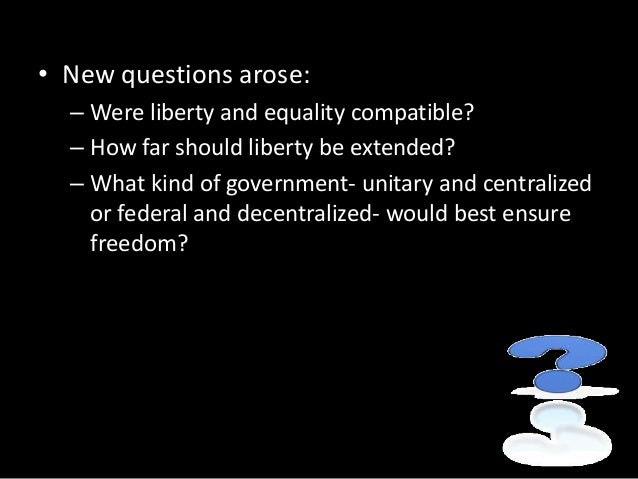 are liberty and equality compatible