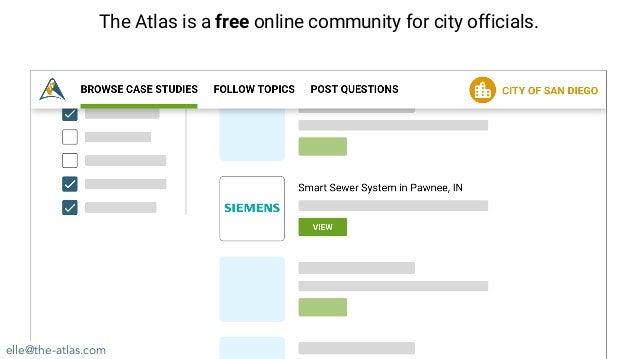 elle@the-atlas.com The Atlas is a free online community for city officials.