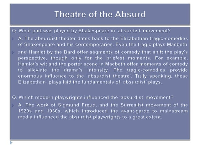 theatre of the absurd 2 essay