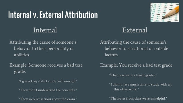 Examples of attribution theory