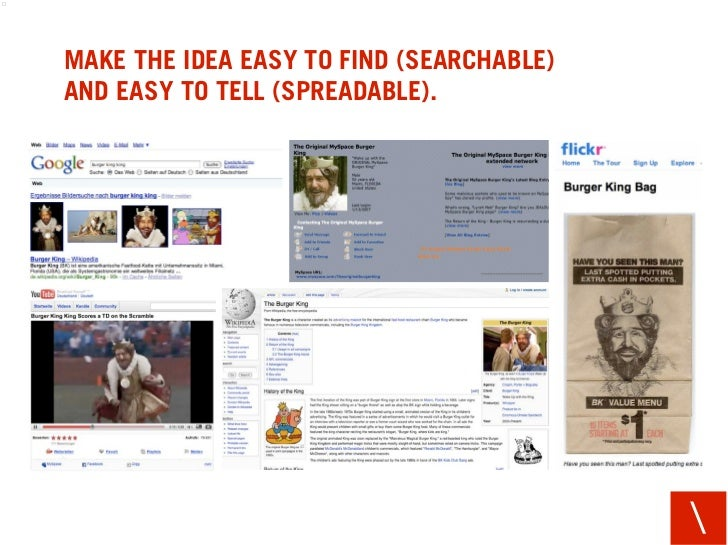 MAKE THE IDEA EASY TO FIND (SEARCHABLE) AND EASY TO TELL (SPREADABLE).