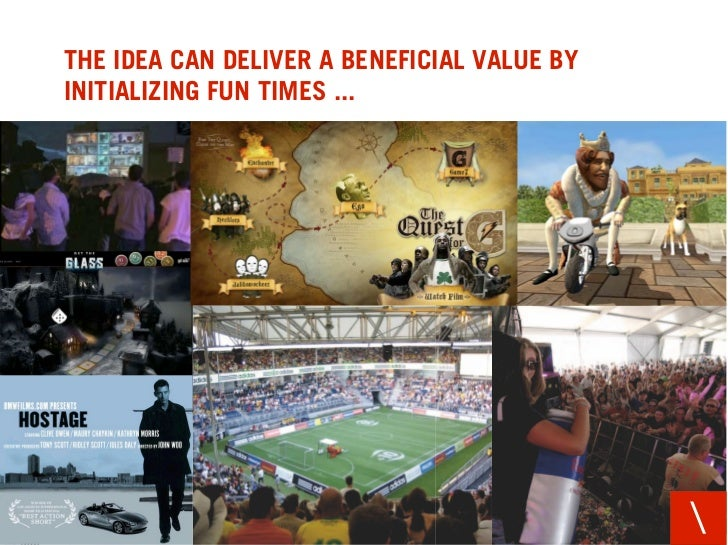 THE IDEA CAN DELIVER A BENEFICIAL VALUE BY INITIALIZING FUN TIMES ...