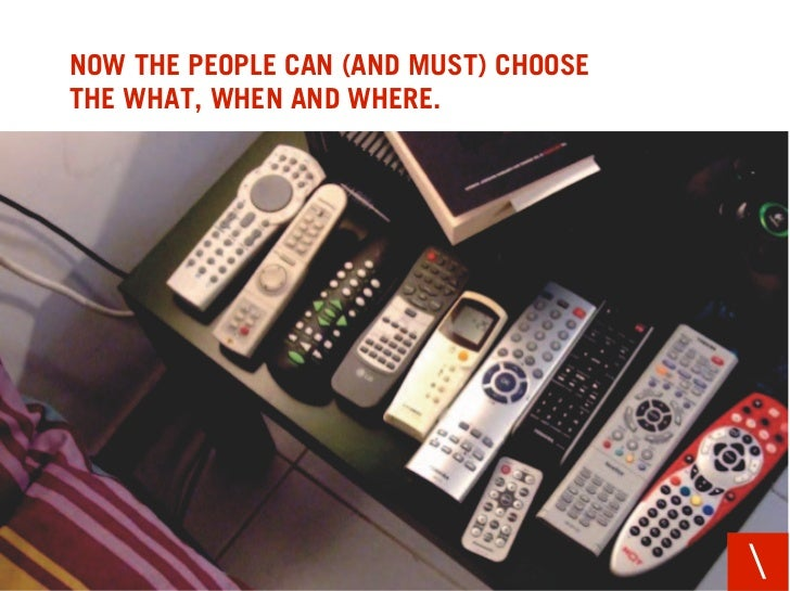 NOW THE PEOPLE CAN (AND MUST) CHOOSE THE WHAT, WHEN AND WHERE.
