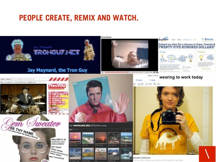 PEOPLE CREATE, REMIX AND WATCH.