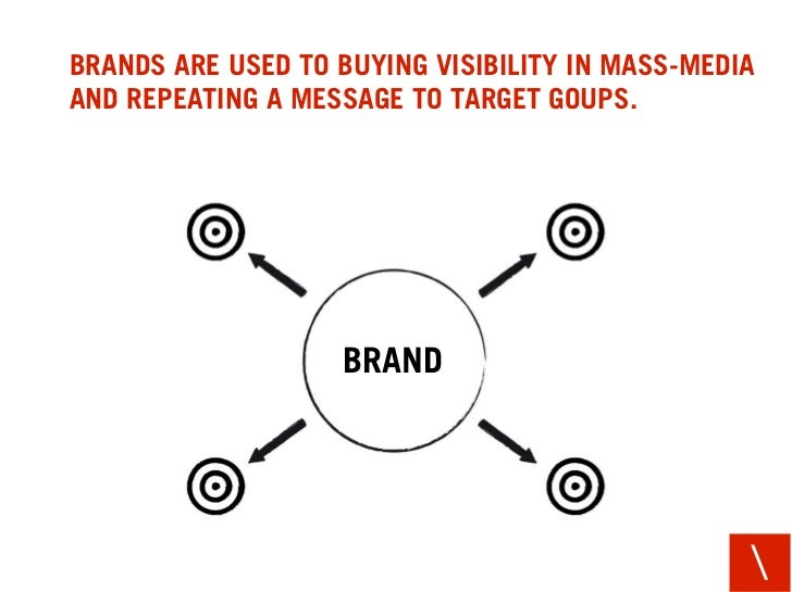 BRANDS ARE USED TO BUYING VISIBILITY IN MASS-MEDIA AND REPEATING A MESSAGE TO TARGET GOUPS.                        BRAND  ...