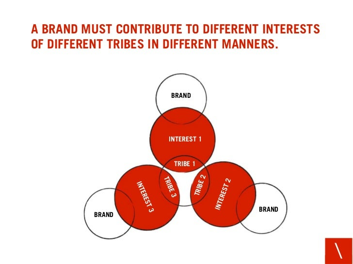A BRAND MUST CONTRIBUTE TO DIFFERENT INTERESTS OF DIFFERENT TRIBES IN DIFFERENT MANNERS.                         BRAND    ...