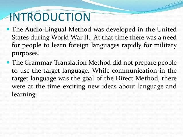 The audio lingual method ch Slide 2