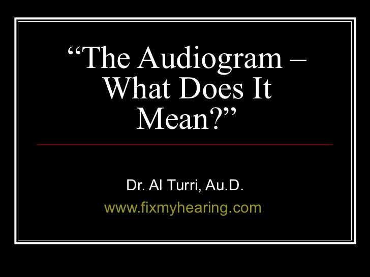 Audiogramma online dating