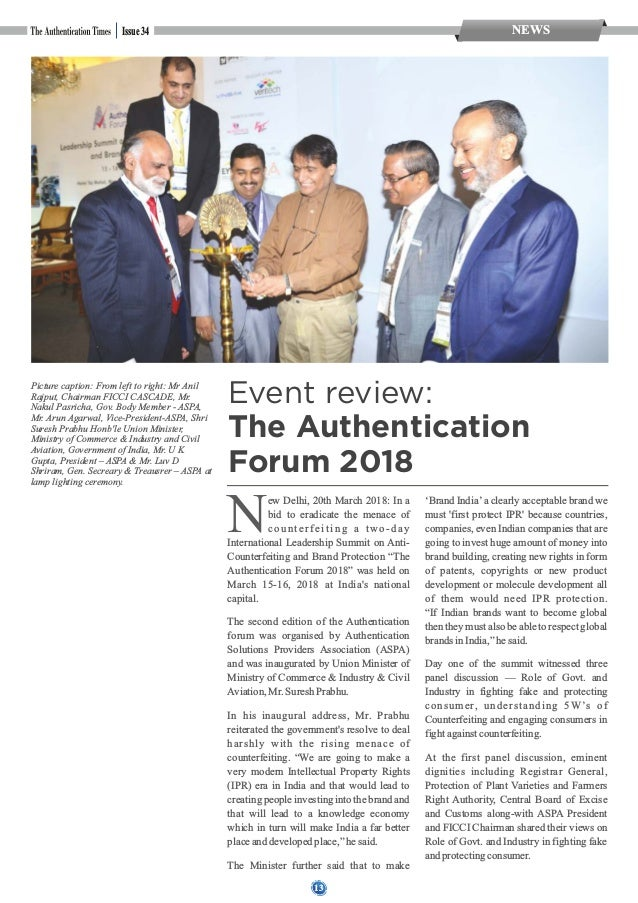 14 NEWSIssue 34 The panel was moderated by leading journalist Mr. Rajeev Dubey from India TodayGroup. Dr. R. C. Agrawal, R...
