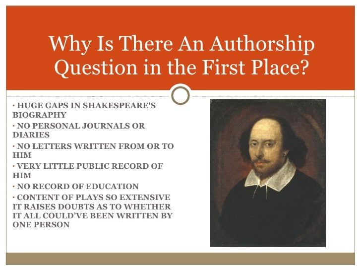an analysis of the authenticity of the authorship of shakespearean plays The shakespeare authorship roundtable is a global forum for the study of the shakespeare canon, the elizabethan theatre, and the social and political life of the.