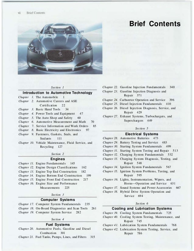 The automobile basic book 6 brief contents section 1 introduction to automotive technology fandeluxe Images