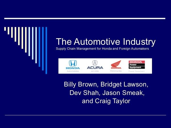 The Automotive Industry Presentation