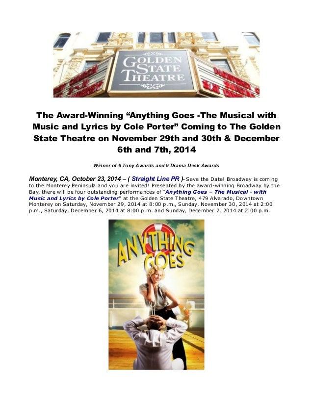 "Lyric cole porter lyrics : The award winning ""anything goes -the musical with music and lyrics b…"
