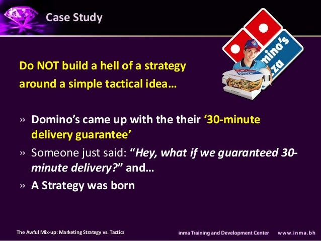Case Study Do NOT build a hell of a strategy around a simple tactical idea… » Domino's came up with the their '30-minute  ...