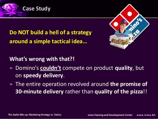 Case Study Do NOT build a hell of a strategy around a simple tactical idea… What's wrong with that?! » Domino's couldn't c...