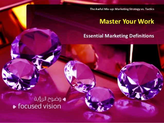 The Awful Mix-up: Marketing Strategy vs. Tactics         Master Your WorkEssential Marketing Definitions