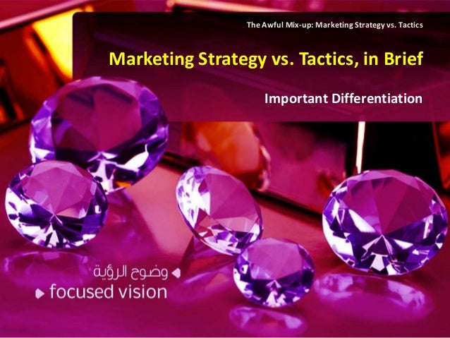 The Awful Mix-up: Marketing Strategy vs. TacticsMarketing Strategy vs. Tactics, in Brief                     Important Dif...
