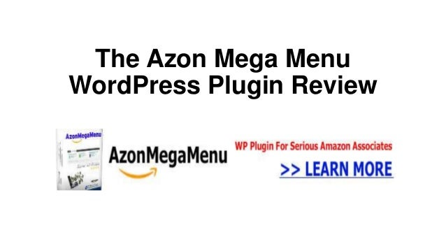 The Azon Mega MenuWordPress Plugin Review
