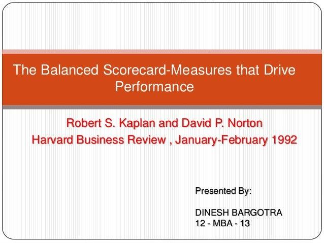 The Balanced Scorecard Measures That Drive Performance
