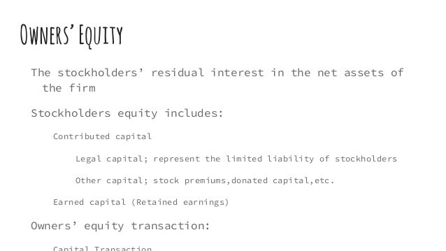 balance sheet under residual equity theory Section a - external financial reporting decisions  financial statements used under us gaap are: 1) balance sheet 2)  equity is net assets, or the residual.