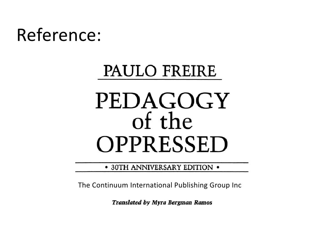 an analysis of banking concept of education by paulo freire Paulo freire on education that liberates  this is the 'banking' concept of education, in which the scope of action allowed to the students only as far as .