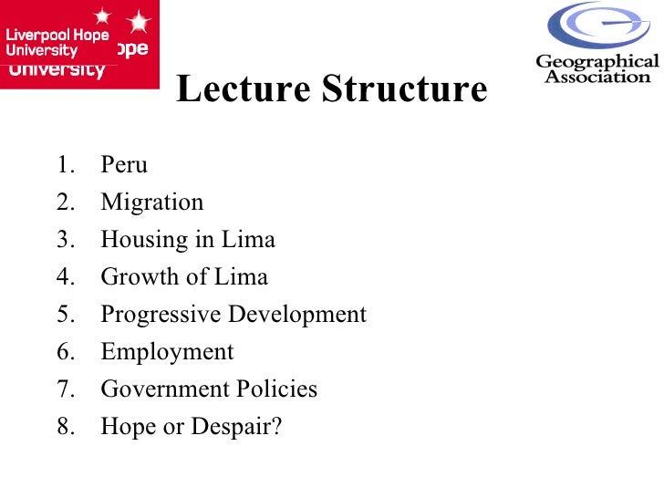 Lima's Barriadas - Slums of Hope or Despair? Slide 2