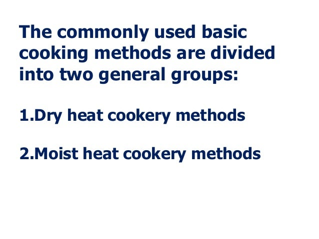 The basic cooking methods – Basic Cooking Terms Worksheet