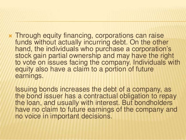 tiffanys equity financing essay Free essay: there are two basic ways of financing for a business: debt financing  and equity financing debt financing is defined as 'borrowing money that is.