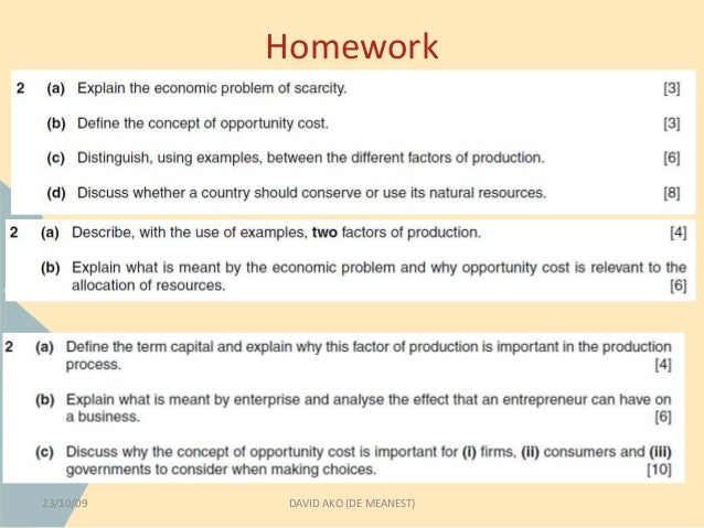 The Basic Economic Problem Essay Sample