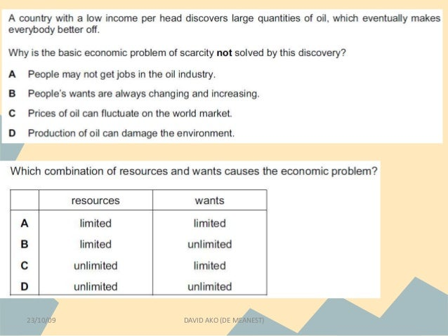 the basic economic problems essay The economic problem - sometimes called the basic or central economic problem - asserts that an economy's finite resources are insufficient to satisfy all human wants and needs the problems of economic growth have been discussed by numerous growth models.