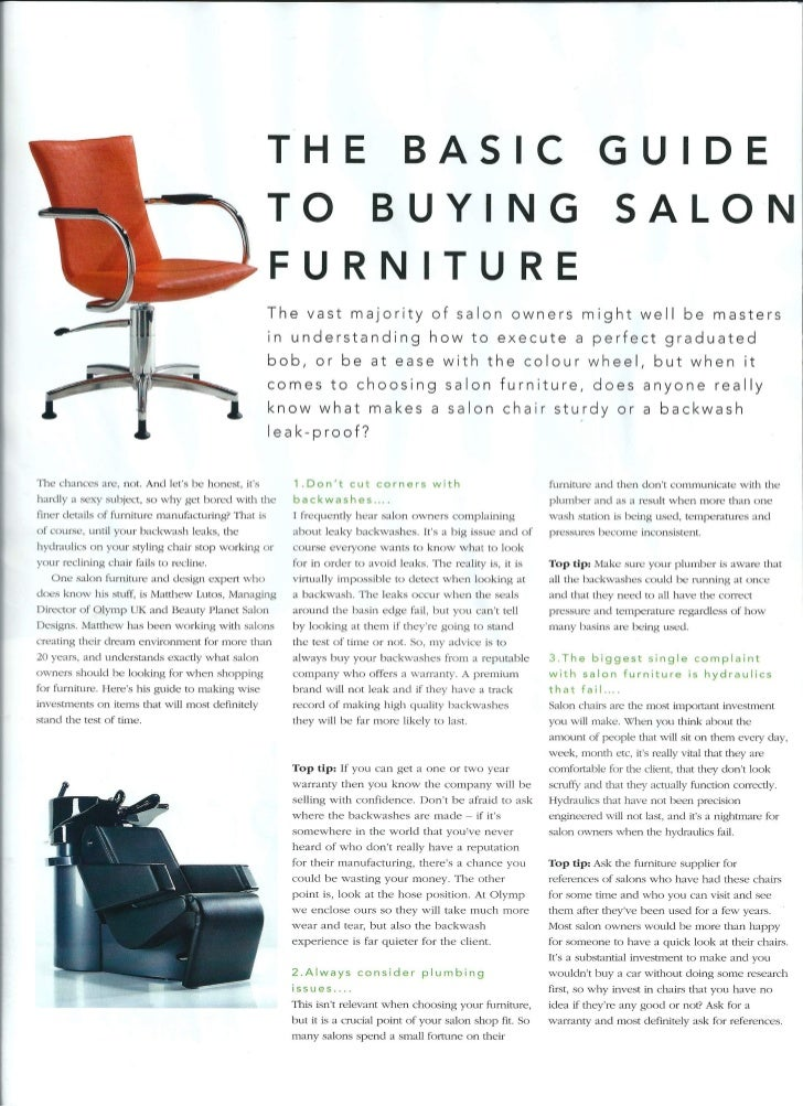 The Basic Guide to Buying Salon Furniture