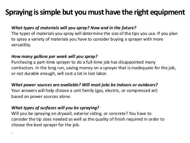 The Basic Of Airless Spraying