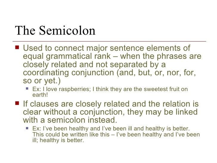 semicolon placement