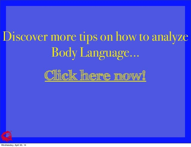 Dating body language basics
