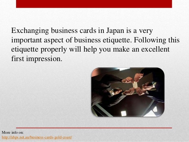 The basics of business card etiquette in japan 3 exchanging business cards in japan reheart Image collections
