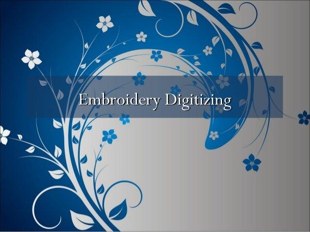 Embroidery DigitizingEmbroidery Digitizing
