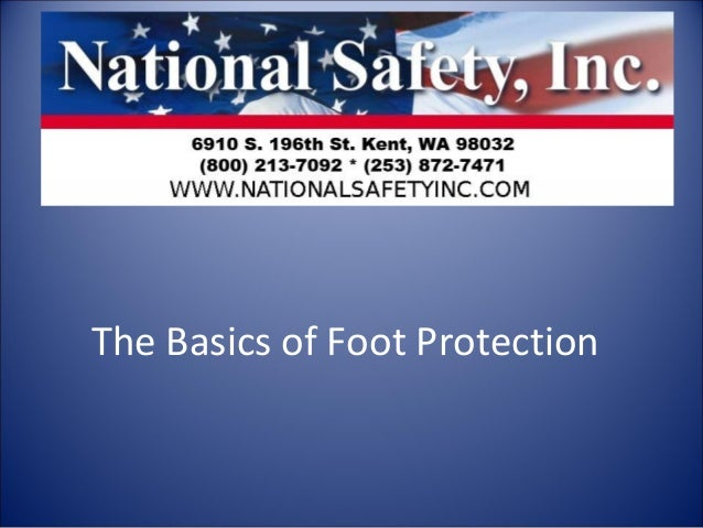 The Basics of Foot Protection