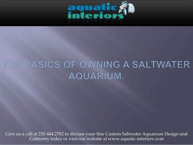 Give us a call at 210.444.2782 to discuss your fine Custom Saltwater Aquarium Design and Cabinetry today or visit our webs...