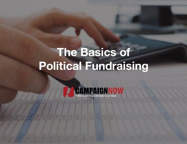 The Basics of Political Fundraising