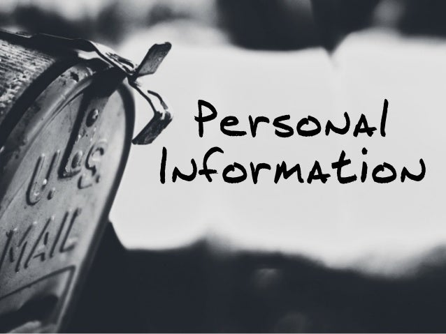 1 Personal Information Objective Education Experience The Basics: 2 3 4; 5.