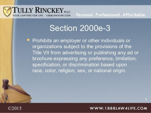 The Basics Of Workplace Discrimination And Harassment Tully Rinckey
