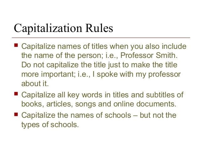 subtitle capitalization rules