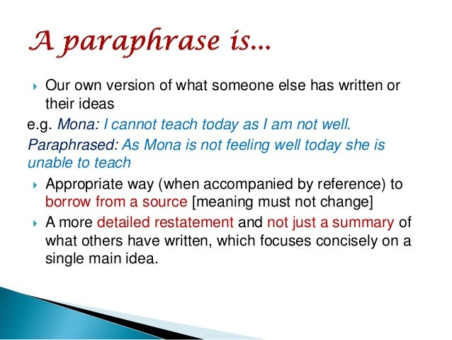The Basic Steps In The Paraphrasing When Writing1 Arjmand9