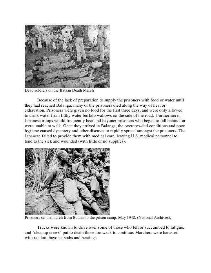 research paper on bataan death march Bataan death march and us colonialism although published research portrays the bataan death march for this paper.