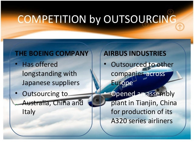 outsourcing and boeing company Outsourcing and boeing  topics: outsourcing  sometimes outsourcing involves the transfer of employees from the company to the outsourcing company.