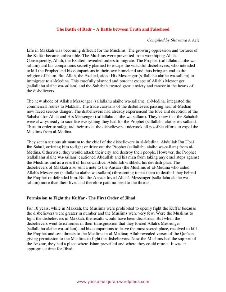 JANG E BADAR IN URDU PDF