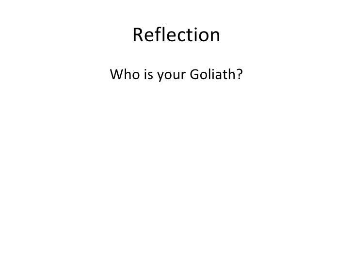 Reflection david and goliath