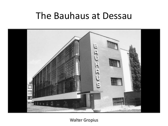 The Bauhaus And The New Typography