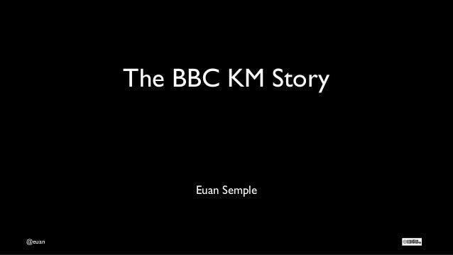 @euan The BBC KM Story Euan Semple