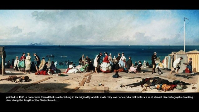 painted in 1865: a panoramic format that is astonishing in its originality and its modernity, over one and a half meters, ...